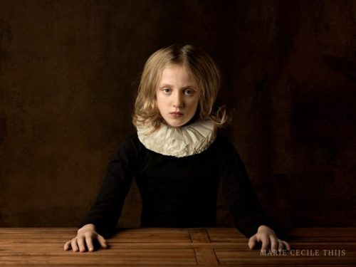 Girl with White Collar at Table I