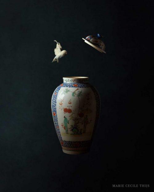 Japanese Vase and Bird