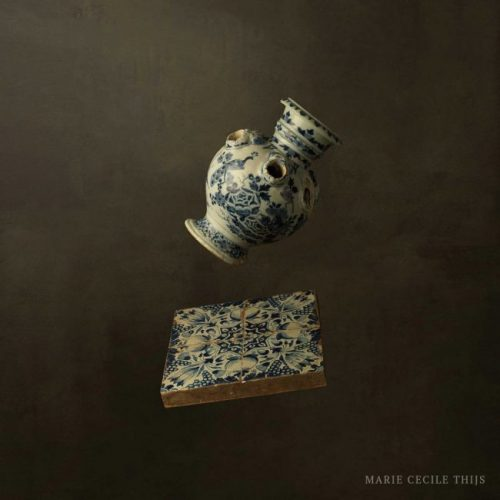 Delftware Vase with Tile