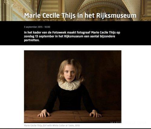 Marie Cecile Thijs in het Rijksmuseum