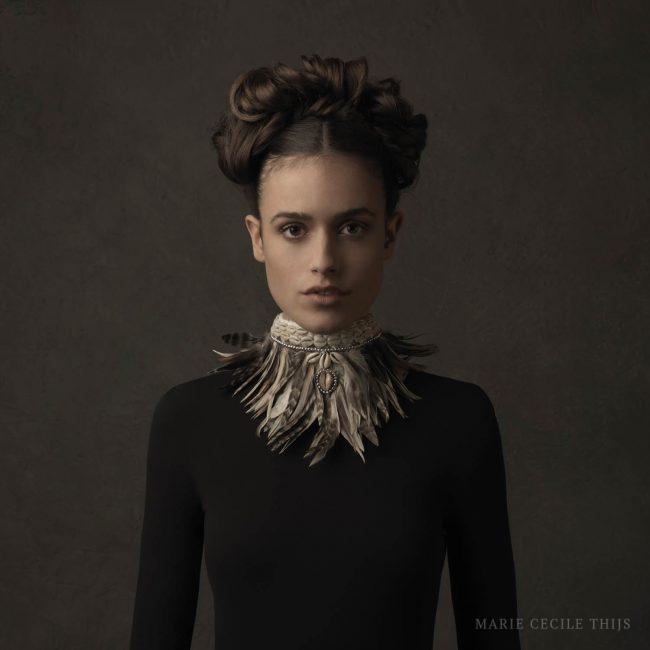 Girl with Feather Collar II